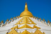 foto of tabernacle  - Maharzayde pagoda on blue sky background - JPG