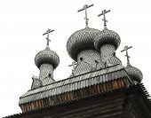 image of tabernacle  - Russian wooden church in the Arkhangelsk Region - JPG