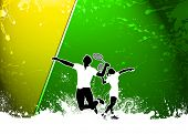 foto of badminton player  - Badminton sport invitation poster or flyer background with empty space - JPG