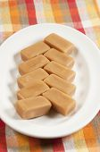image of toffee  - Toffee candies on a plate closeup shot - JPG
