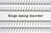 image of bing  - Close up of Binge eating disorder text - JPG