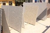 stock photo of slab  - Slabs of marble for the construction industry - JPG