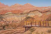stock photo of landforms  - Landform in Zhangye Danxia - JPG