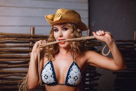 picture of scourge  - Girl in bikini and cowboy - JPG