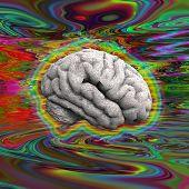 foto of psychedelic  - Psychedelic Brain - JPG