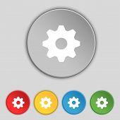stock photo of cogwheel  - Cog settings sign icon - JPG