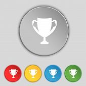 stock photo of trophy  - Winner cup sign icon - JPG