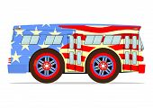 image of motor-bus  - Funny old American bus - JPG