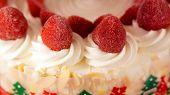stock photo of ice-cake  - Colourful ice cream cake for celebration - JPG