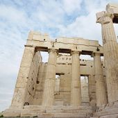stock photo of parthenon  - Ancient Parthenon Temple located at the Acropolis in Athens - JPG