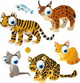 foto of cute tiger  - vector isolated cartoon cute animals set - JPG