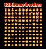 stock photo of neat  - Retro illuminated movie marquee vector set - JPG