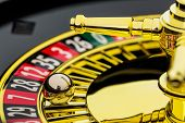 picture of roulette table  - the cylinder of a roulette gambling in a casino - JPG