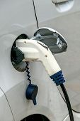 foto of electric station  - electric car charging station to - JPG