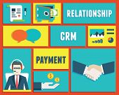 image of customer relationship management  - Customer relationship management and payment service  - JPG