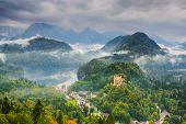 picture of bavarian alps  - the Bavarian Alps with Hohenschwangau - JPG
