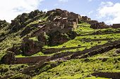 Постер, плакат: Ruins in the lost city of Pisac Peru