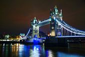 pic of london night  - Tower bridge in London Great Britain at the night time - JPG