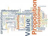 image of differential  - Background concept wordcloud illustration of value proposition - JPG