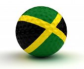 stock photo of jamaican  - Jamaican Golf Ball  - JPG