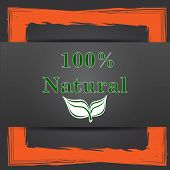 picture of 100 percent  - 100 percent natural icon - JPG