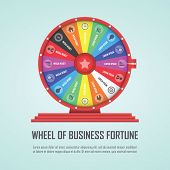 stock photo of money prize  - Wheel of fortune infographic design element VECTOR EPS10 - JPG