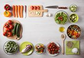 Постер, плакат: Healthy Eating And Food Preparation At Home