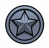 stock photo of iron star  - Illustration of the iron star symbol on white background - JPG
