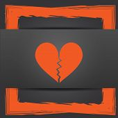 picture of heartbreaking  - Broken heart icon - JPG
