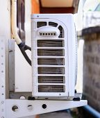 foto of air compressor  - The Air compressor on the home wall - JPG