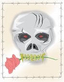 pic of demons  - Skull or demon head illustration Vector Image - JPG