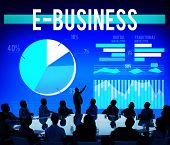 stock photo of ebusiness  - Ebusiness Marketing Ecommerce Business Concept - JPG