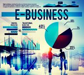 picture of ebusiness  - Ebusiness Marketing Ecommerce Business Concept - JPG