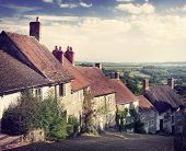 picture of british culture  - British Culture Traditional House Famous Travel Spot Concept - JPG