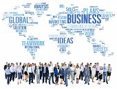 foto of enterprise  - Business Global World Plans Organization Enterprise Concept - JPG