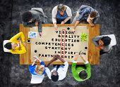 stock photo of scrabble  - Success Goal Target Victory Strategy Vision Concept - JPG