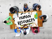 image of recruiting  - Human Resources Employment Job Recruitment Profession Concept - JPG