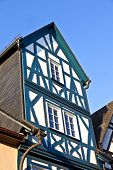 stock photo of timber  - historic half timbered houses in Eltville Germany - JPG