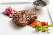 pic of chateaubriand  - meat steak with sauce - JPG