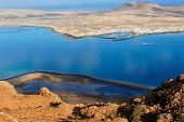 foto of canary-islands  - view of the part of Graciosa Island from Mirador del Rio Lanzarote Island Canary Islands Spain - JPG