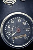 foto of mph  - Color detail with the speedometer of a motorcycle - JPG