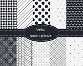 pic of color spot black white  - Geometric Seamless Patterns Set - JPG