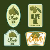 picture of olive shaped  - Extra virgin Olive oil vintage labels - JPG