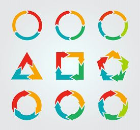 picture of arrow  - Vector circle arrows for infographic - JPG
