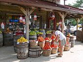 stock photo of local shop  - a country store in a rural area in north virginia - JPG