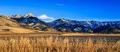 Bridger Mountain Range. poster
