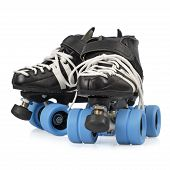 stock photo of roller-derby  - Photo of Roller Derby quad skates - JPG