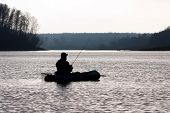 picture of bluegill  - Fishing on a beautiful late October evening - JPG