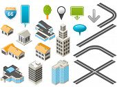 image of penthouse  - Map toolkit with Isometric Buildings and Roads - JPG