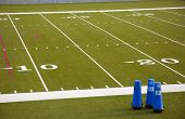 picture of ncaa  - a football field at the 20 yard line - JPG
